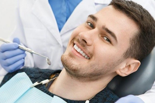 Man smiling after Teeth Cleaning