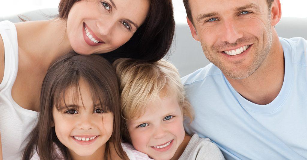 Happy family with good Dental Health